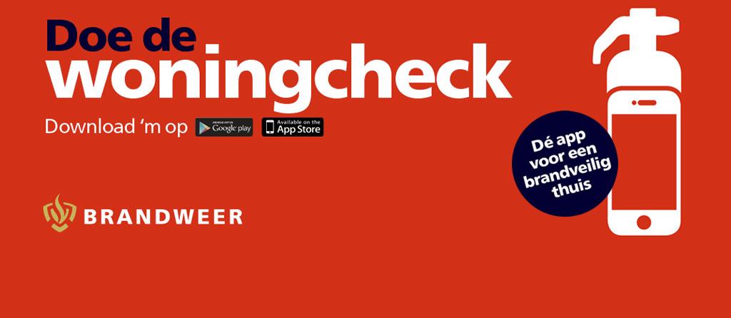 Brandweer woningcheck app banner