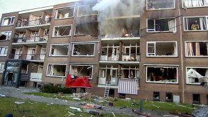 Explosie in flatgebouw