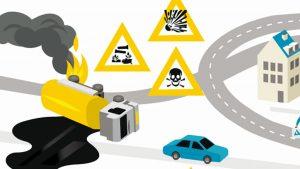 Gekantelde vrachtwagen lekt gevaarlijke stof
