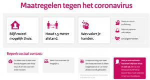 Maatregelen tegen het coronavirus