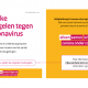 Aangescherpte maatregelen coronavirus