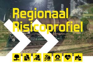 Afbeelding van het regionale risicoprofiel met op de achtergrond een goederenwagon